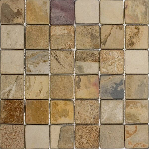 2 x 2 Slate Mosaic Tile in Fall by Epoch Architectural Surfaces