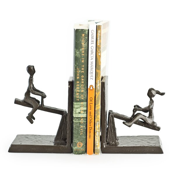 Merlino See Saw Metal Bookend (Set of 2) by Red Ba