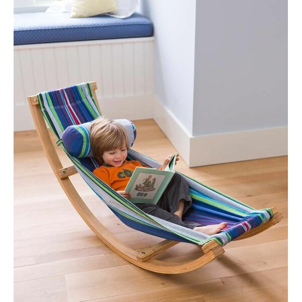 Rocking Cotton Hammock with Stand by Magic Cabin