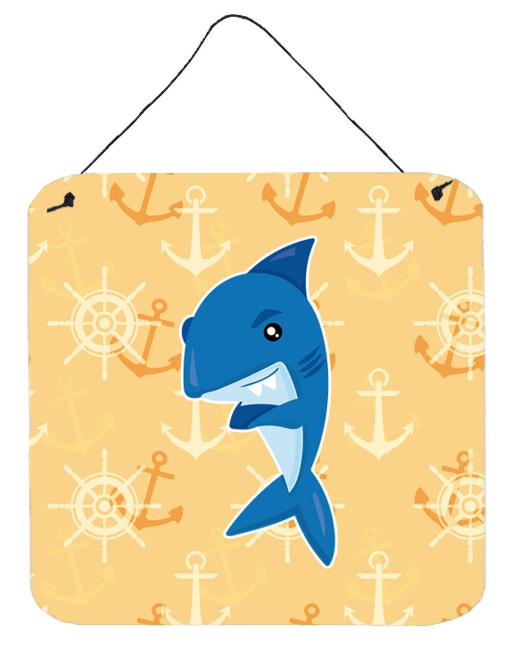 Zoomie Kids Shark Nautical Aluminum Wall Décor | Wayfair