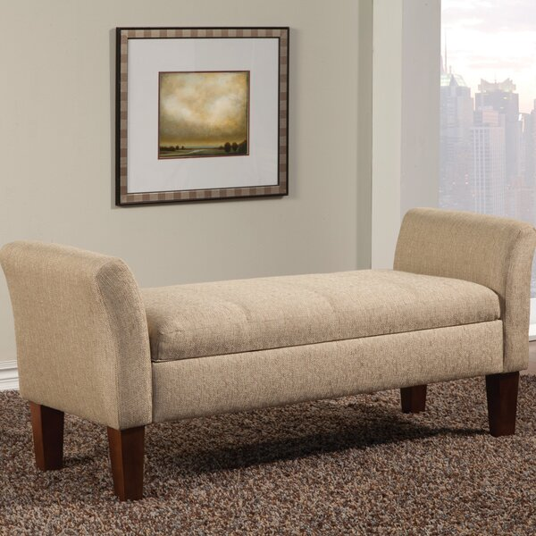Davis Upholstered Storage Bench By Alcott Hill by Alcott Hill Coupon