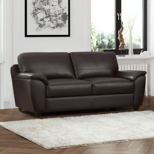 Brand New Riegel Leather Sofa by Red Barrel Studio by Red Barrel Studio