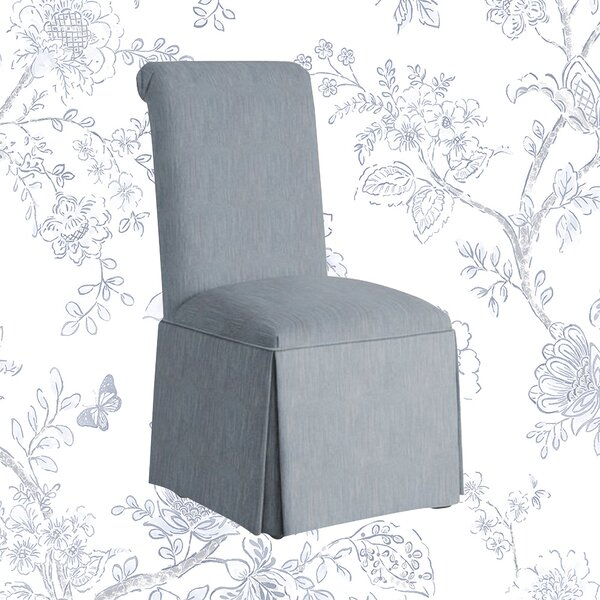 Lillian Upholstered Solid Back Skirted Side Chair by Kelly Clarkson Home Kelly Clarkson Home