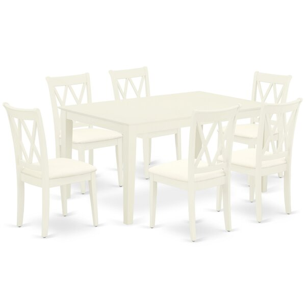 Latish 7 Piece Solid Wood Dining Set by Winston Porter Winston Porter