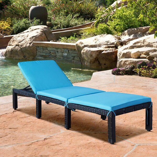 Hockinson Reclining Chaise Lounge with Cushion