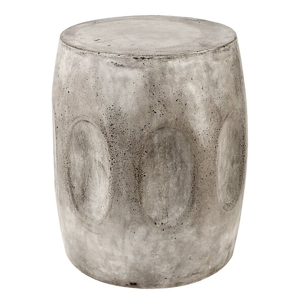Aria Waxed Concrete Stool by Bloomsbury Market