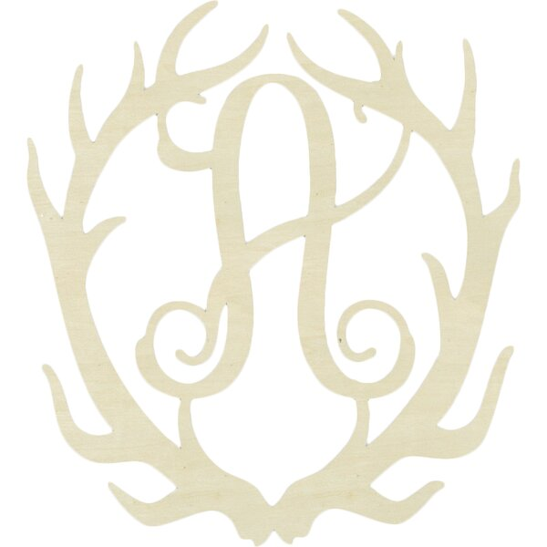 Passarelli Antler Monogram Hanging Initials by Harriet Bee