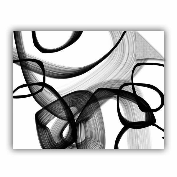 Rash Abstract Poetry in Black and White 91 Wall Decal by Orren Ellis