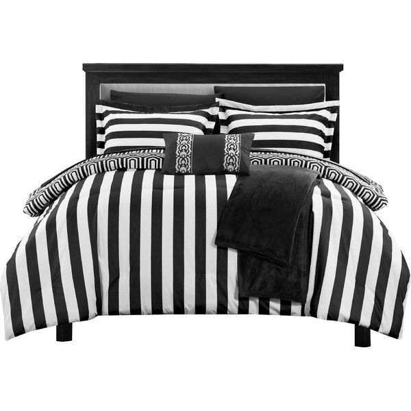 Paris 10 Piece Full Comforter Set by Chic Home