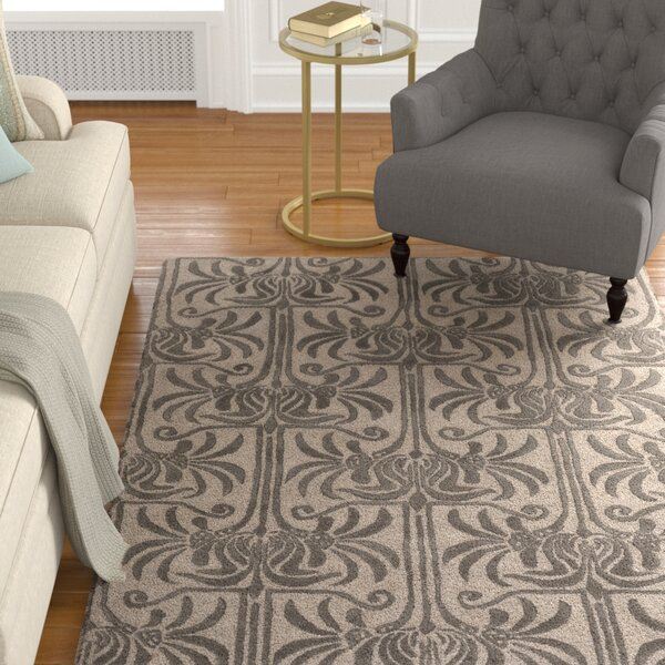 Bartell Hand-Tufted Black/Ivory Area Rug by Astoria Grand