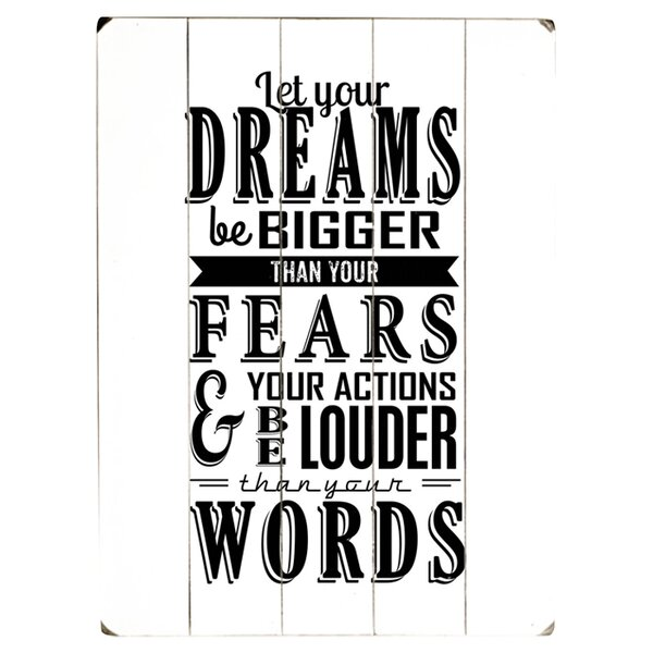 Let Your Dreams Textual Art Multi-Piece Image on Wood by Artehouse LLC