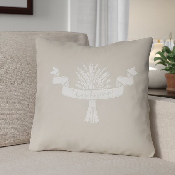 Thanksgiving Indoor/Outdoor Throw Pillow by The Holiday Aisle