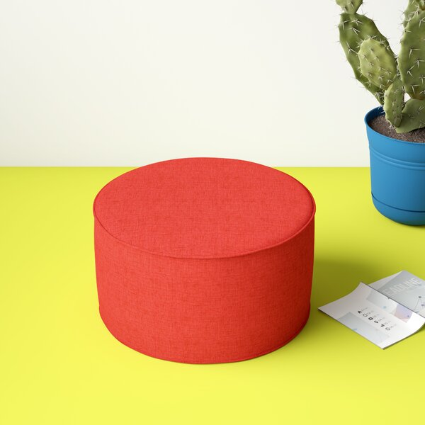 Luna Bead Fill Pouf Outdoor Ottoman with Cushion by Hashtag Home
