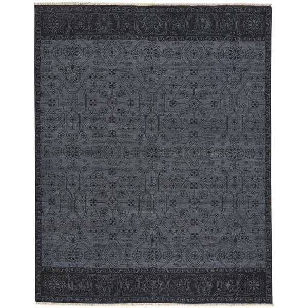 Biltmore Barrier Hand-Knotted Dark Ash Ebony Area Rug by Capel Rugs
