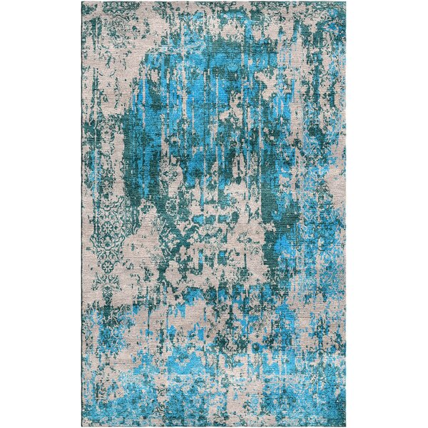 Aliza Handloom Blue/Beige Area Rug by Bungalow Rose