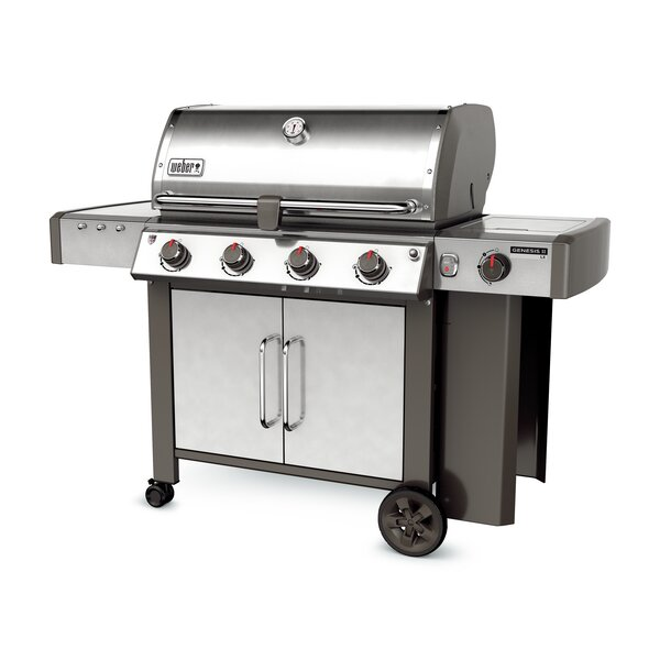 Genesis II LX S-440 4-Burner Propane Gas Grill with Side Burner by Weber
