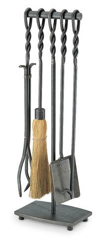 Soldiered Row 5 Piece Iron Fireplace Tool Set by Pilgrim Hearth
