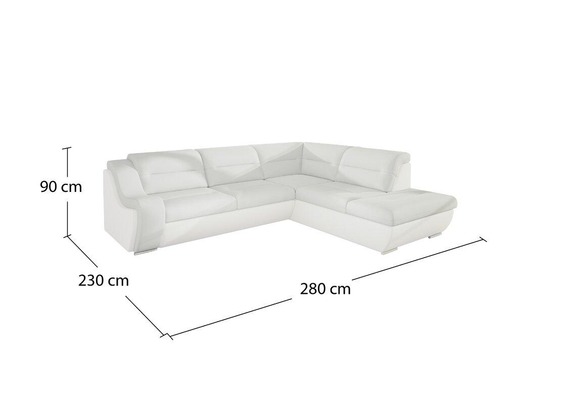 Home loft concept ecksofa fatima c mit bettfunktion for Ecksofa mit bettfunktion