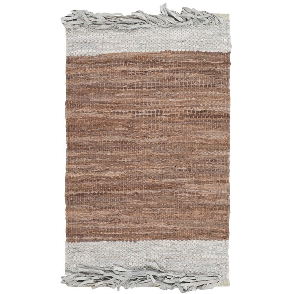 Glostrup Hand Hooked Brown Area Rug by Bungalow Rose