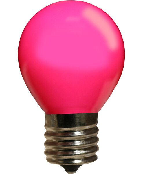 10W Pink 130-Volt Light Bulb (Pack of 25) by Wintergreen Lighting