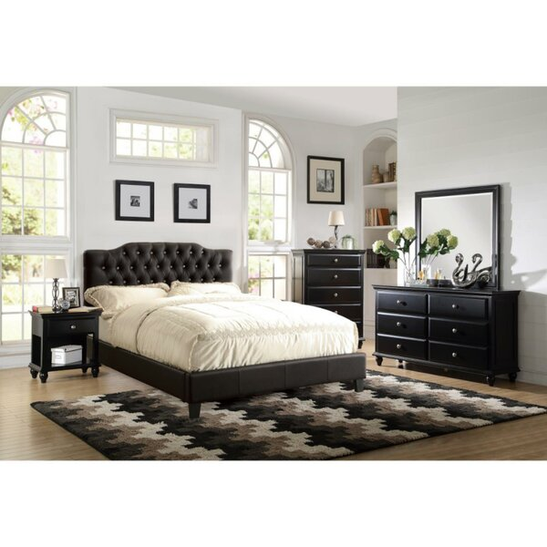 Enloe Wooden Upholstered Standard Bed by Darby Home Co