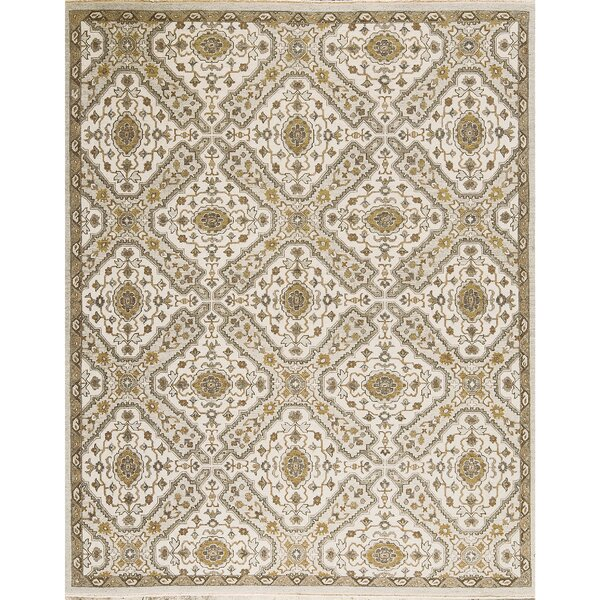 One-of-a-Kind Sumak Hand-Knotted Wool Ivory/Gray Area Rug by Bokara Rug Co., Inc.