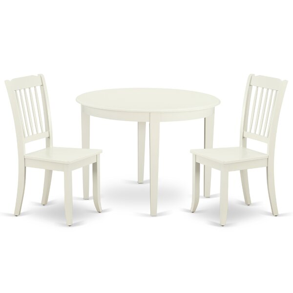 Kraatz 3 Piece Solid Wood Breakfast Nook Dining Set by August Grove
