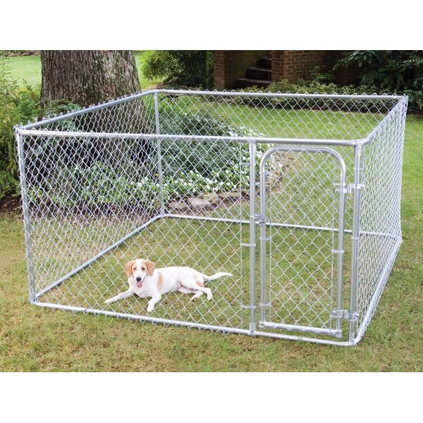 Do-It-Yourself Galvanized Steel Yard Kennel by FENCEMASTER