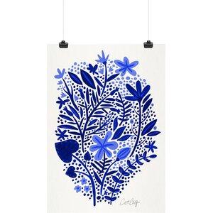 'Blue Garden' Graphic Art Print by East Urban Home