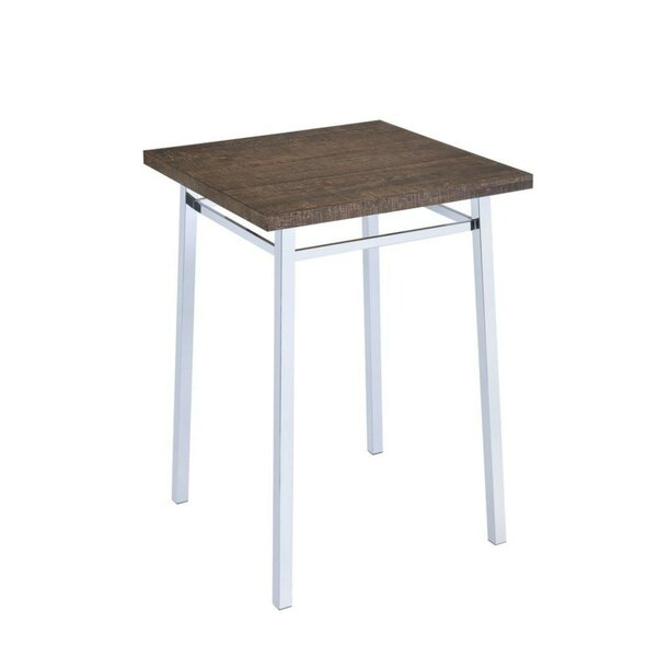 Tyndall Contemporary Square Wood and Metal Pub Table by Orren Ellis