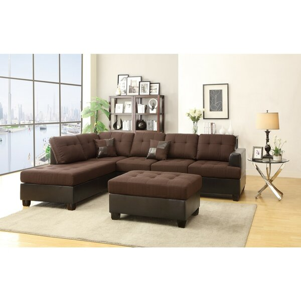 Girouard Reversible Right Hand Facing Modular Sectional With Ottoman By Fleur De Lis Living