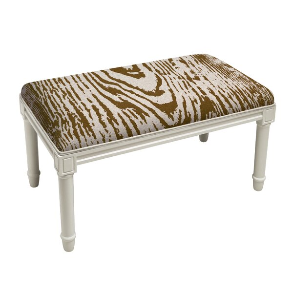 Poirier Faux Bois Wood Bench by Bloomsbury Market