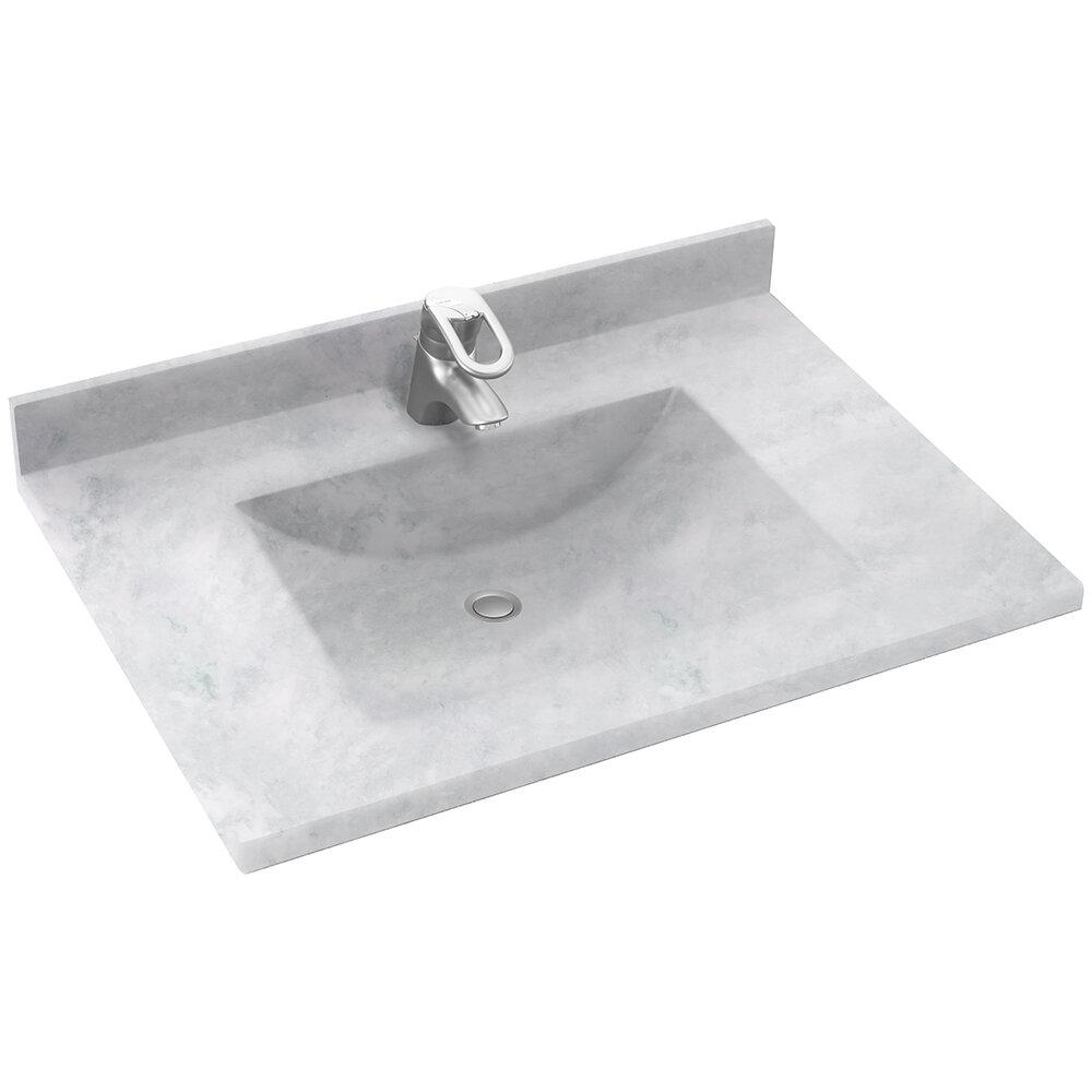 Contour 37 Single Bathroom Vanity Top