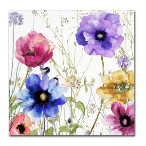 'Summer Diary II' by Color Bakery Painting Print on Wrapped Canvas by Trademark Fine Art
