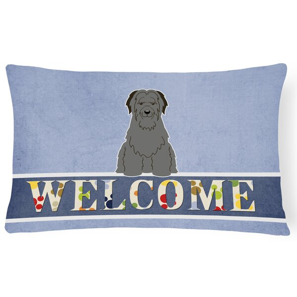 Redfield Briard Welcome Lumbar Pillow by Red Barrel Studio
