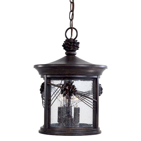 Abbey Lane 3-Light Outdoor Hanging Lantern by Great Outdoors by Minka