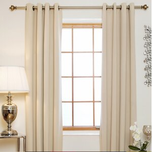 caples solid blackout thermal grommet curtain panels set of 2 - 63 Inch Curtains