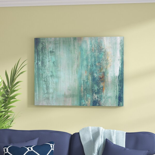 Beachcrest Home 'Abstract Spa' Framed Graphic Art Print on ...
