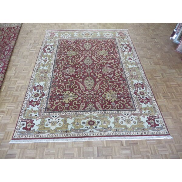 One-of-a-Kind Josephson Oushak Hand-Knotted Wool Red Area Rug by Canora Grey