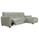 Reaux Power Leather Right Hand Facing Reclining Sectional by Latitude Run