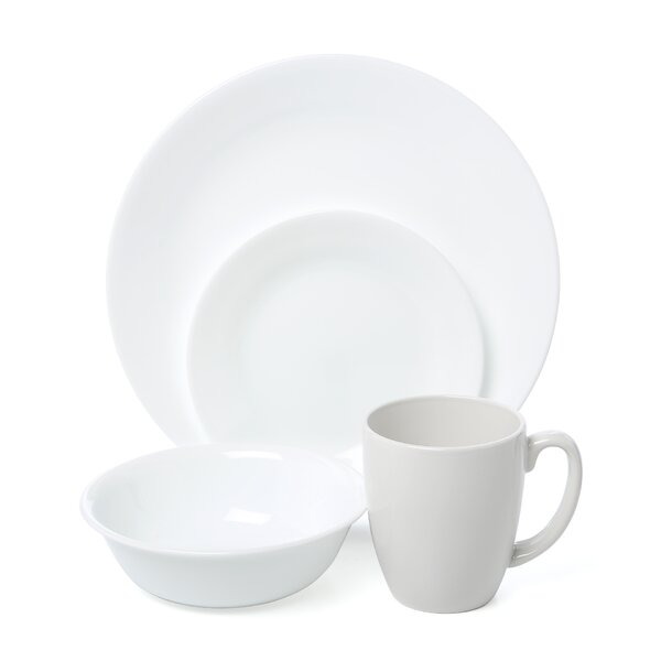 Livingware Winter Frost 16 Piece Dinnerware Set, Service for 4 by Corelle