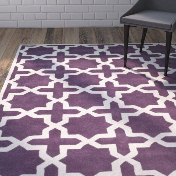 Wilkin Purple / Ivory Rug by Wrought Studio