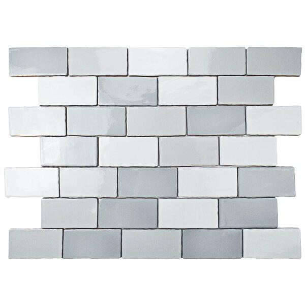 Antiqua 3 x 6 Ceramic Subway Tile in Craquele Soho Gray by EliteTile