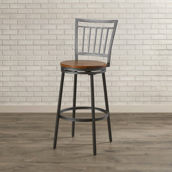 Aquirre 30 Swivel Bar Stool by Mercury Row