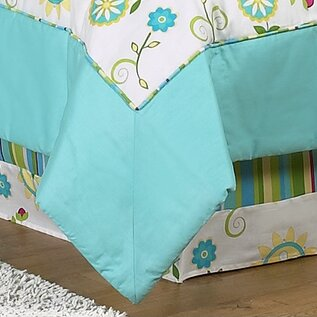 Layla Toddler Bed Skirt by Sweet Jojo Designs