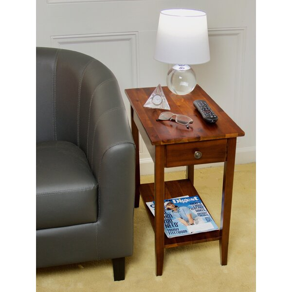 Kabamba Solid Wood End Table With Storage By Winston Porter