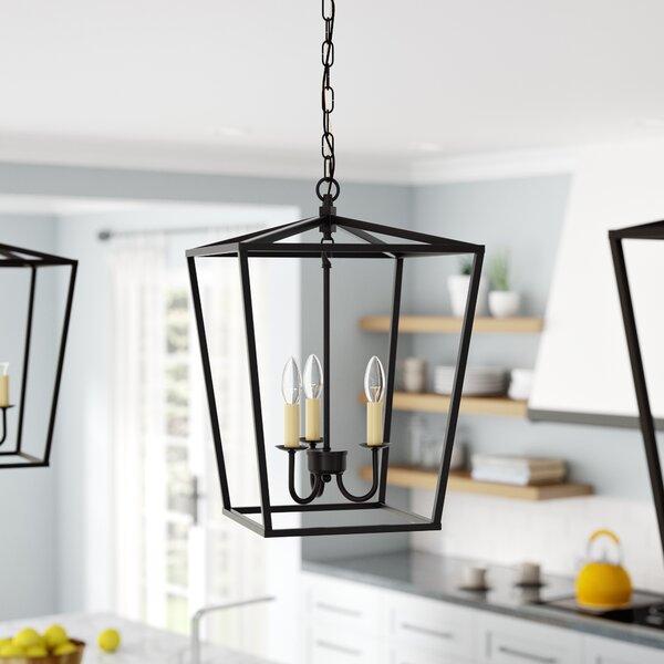 Sennett 3-Light Lantern Pendant by Gracie Oaks