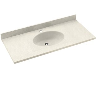 Shopping for Chesapeake Solid Surface 25 Single Bathroom Vanity Top BySwan