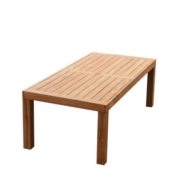 Darion Teak Dining Table by Rosecliff Heights