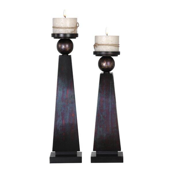 2 Piece Metal Candlestick Set by Brayden Studio